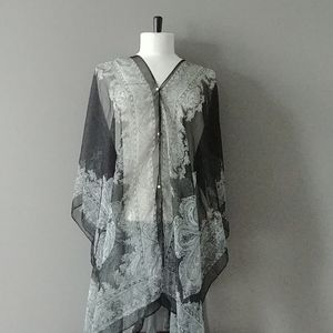 Sheer poncho / swimsuit cover-up / scarf
